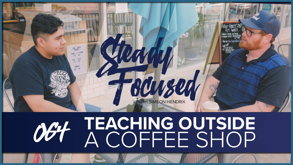 Simeon Hendrix shares what he knows about photography, social media and personal brand building with Steven Alex Garcia outside of Odd Duck Coffee in Downtown, Wichita Falls, Texas.