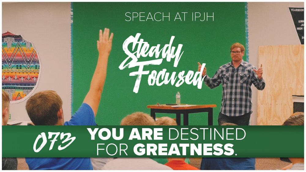 Simeon Hendrix of Steady Focused speaks to the multimedia classes at Iowa Park Junior High.