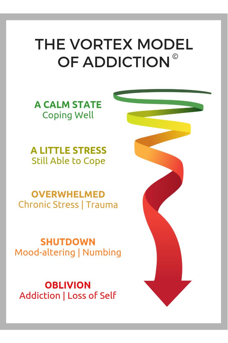 Vortex Model of Addiction