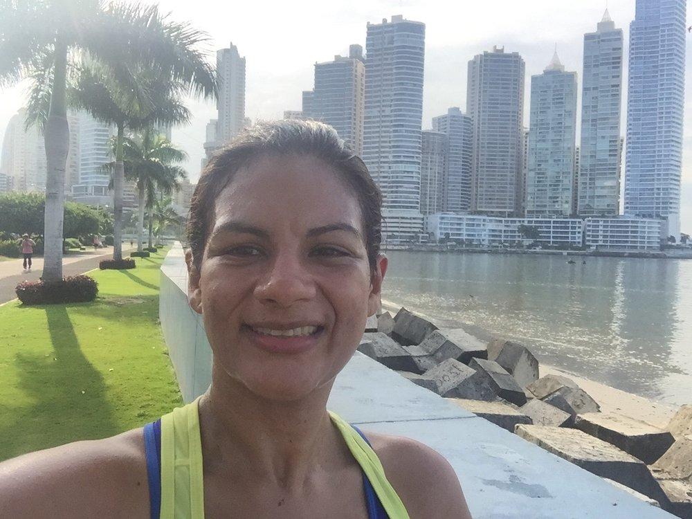 Selfie matutino luego de rutina de ejercicios cardiovasculares