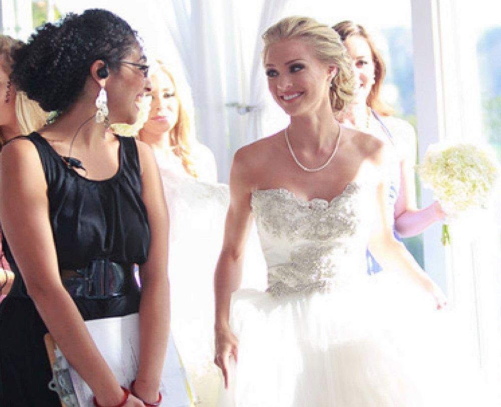 Alice with Bride Kristen Dalton Wolfe, Miss USA