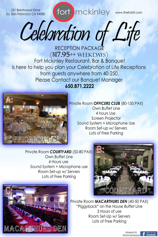Celebration of Life (After funeral service) -