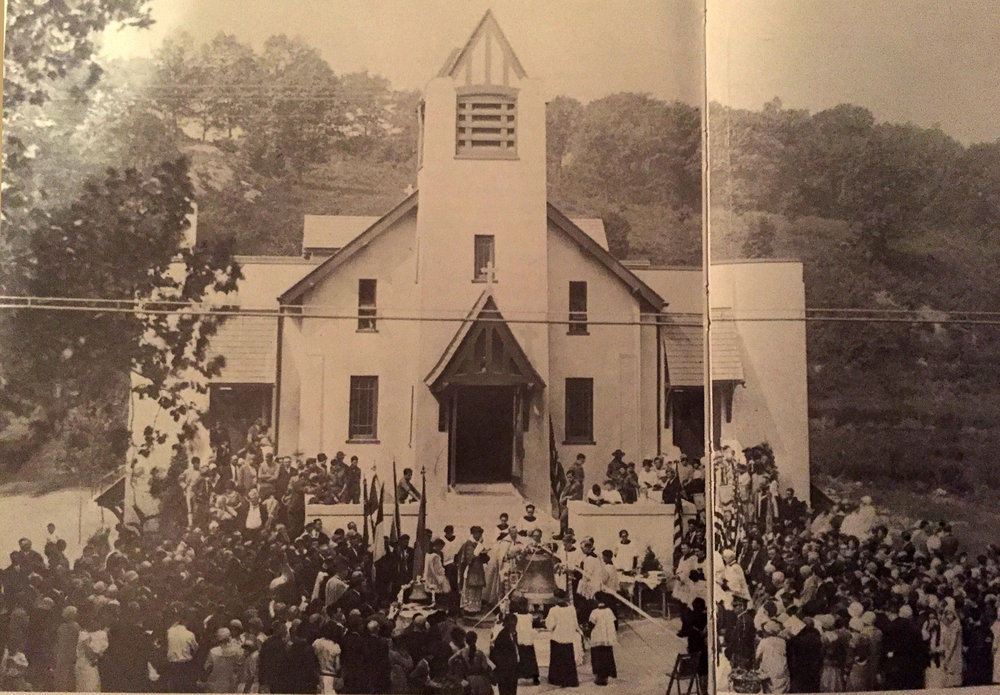 Photo from 1929 - Blessing of the Bells - Sacred Heart Church, Natick, Rhode Island