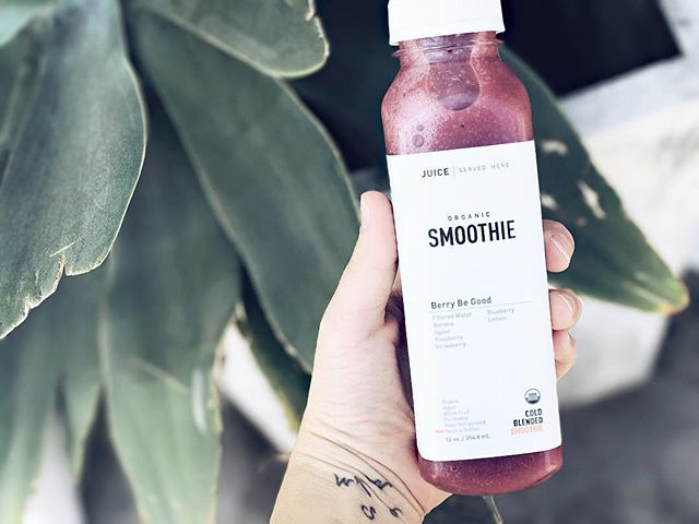 New organic whole fruit blended smoothie 😍  No fillers. No preservatives. No concentrates. EVER! #berrybegood