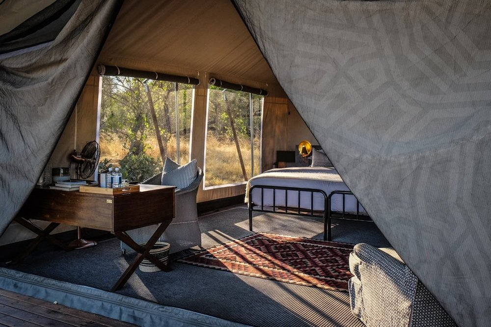 Photo: Machaba Camp Luxury tented room.