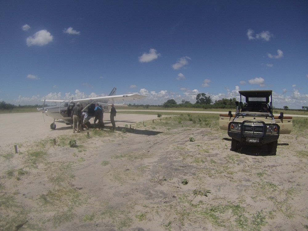 We dropped our new friends off at the air strip for their bush flight, from our 2015 trip.