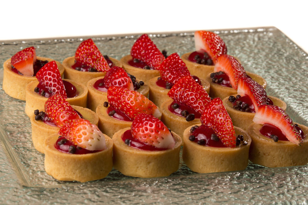 Canapes - seasonal fruit tartlet