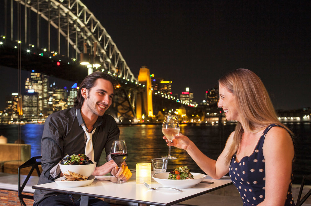Date night at The Deck Sydney