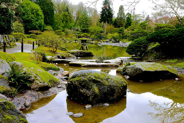 The springtime Japanese Garden.