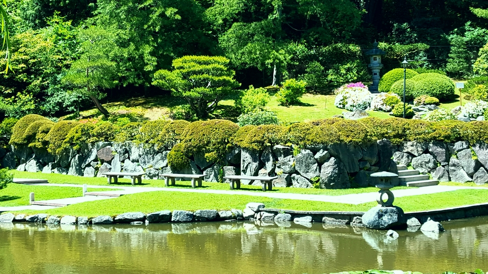The springtime Japanese Garden.