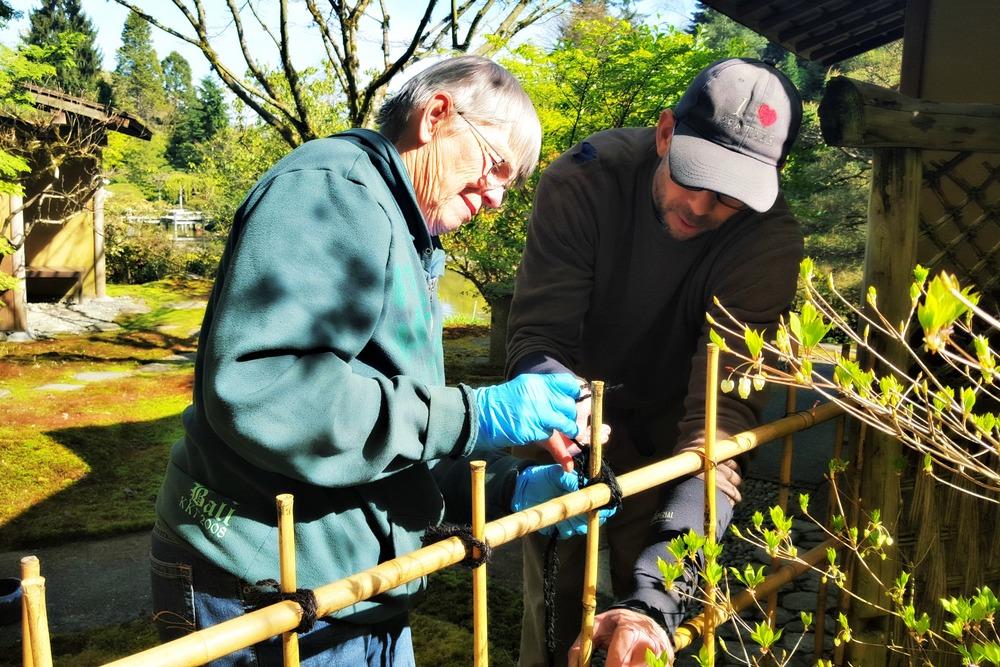 Senior gardener Peter Putnicki