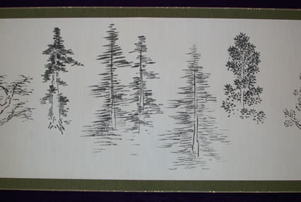 Sketches of trees in the Washington Park Arboretum. Photo: University of Washington.