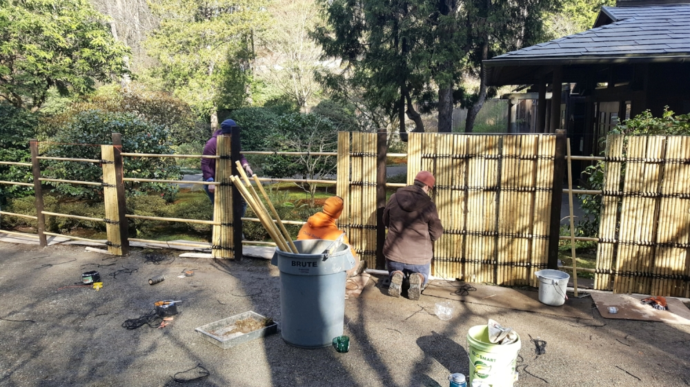 Materials were generously donated by Mark Meenan of American Bamboo. Seattle Japanese Garden's own volunteer group, Unit 86, also contributed funds to this project.