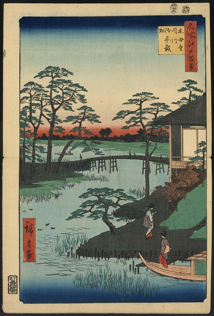 Woodblock print by Ando Hiroshige (1797-1858). From the series  100 Views of Edo . (Library of Congress collection: Japanese Fine Prints & Drawings, pre-1915)