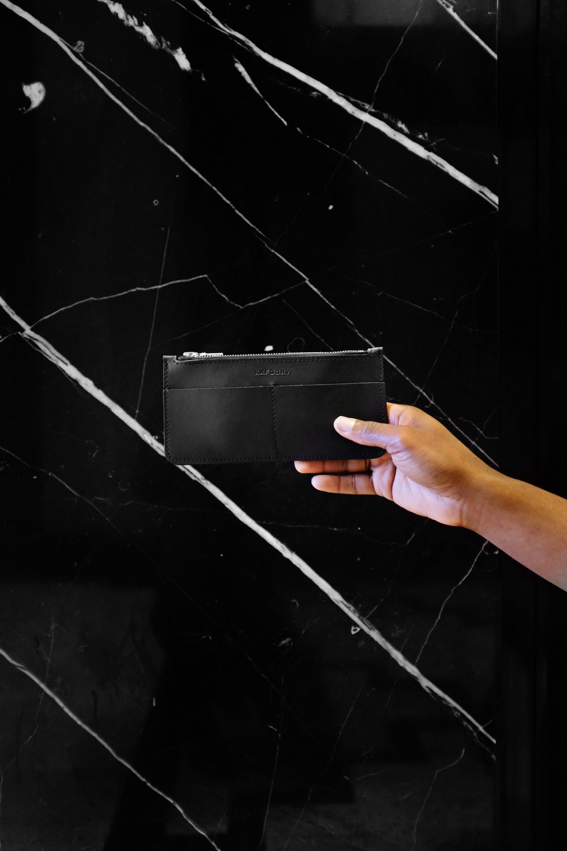 The-Look-Principle-Kafoury-Slim-Black-Zipper-Wallet