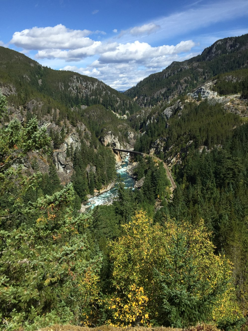 The view down to the Cheakamus.