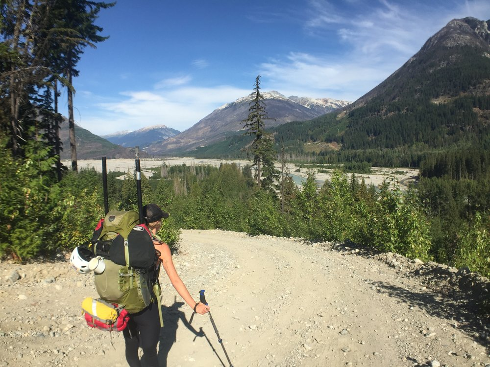 Looking up the Lillooet valley.