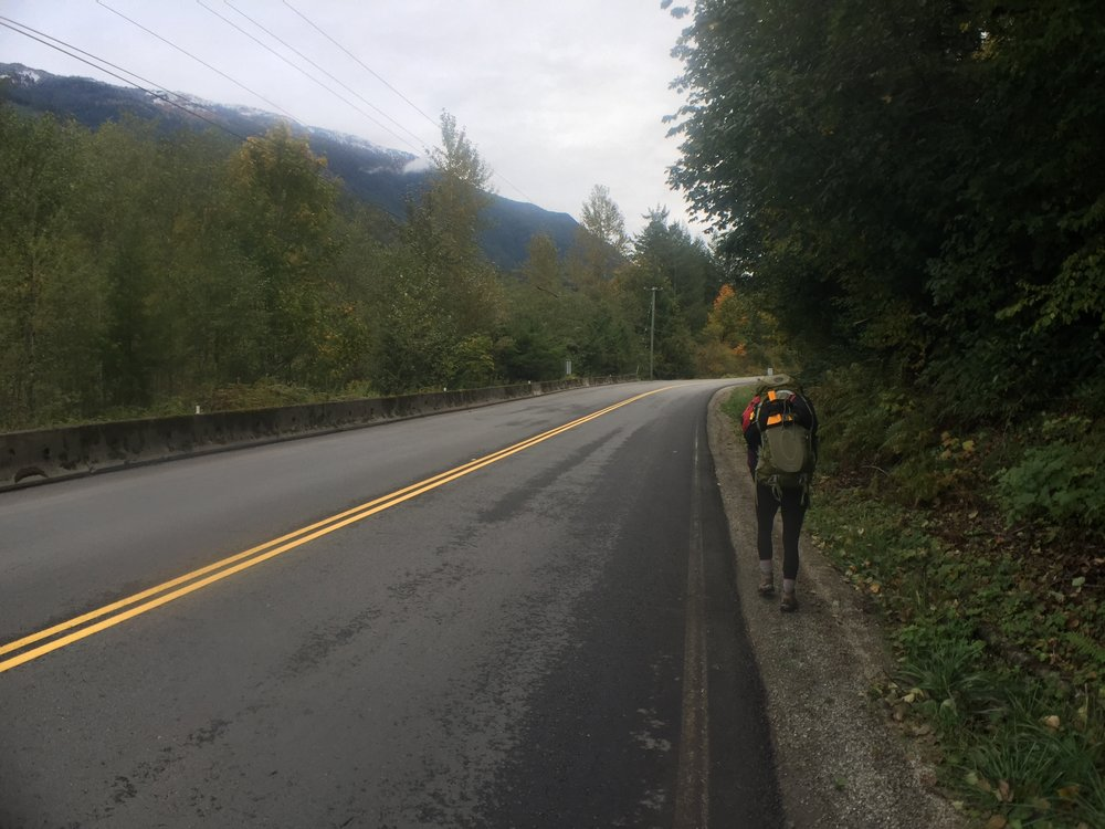 """The definition of """"road-side"""" packrafting."""
