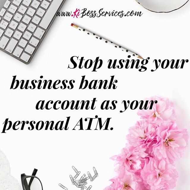 Don't treat your business bank account like it's your personal ATM. Yes I know you're used to swiping your cards and buying what you want. But those fund in your business name, aren't yours. They belong to your business. That's why it has its own tax id number, that's why the money is in a separate account. **If it's not in a separate account you need to book Ki Money Matters call to get you untangled asap. Start treating your business like a real business and investment.  Oprah isn't taking making out of Oprah Inc, just because it's making money, why are you? Make sure you click the bio link to join the KiCircle mailing list.