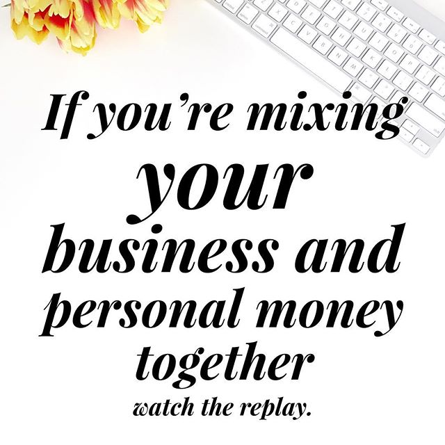 Stop stealing from your business. Tap on my picture to watch the live video for the next 12 hours, on quick ways to stop mixing your business and personal money together.