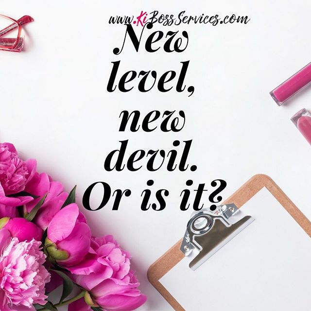 """They say with every new level comes a new devil. But that devil is really a money block. It's your minds way of saying """"are you sure you can handle this, I'm not so sure to let's just stay where we are."""" It's up to you to push past that to cancel that out and determine that you're ready no matter what. To get to the next level, you have to work on your spending habits, your money management, and your thoughts on leveling up.  Make sure you click the bio link to join the KiBoss Circle mailing list to get resources and tips to help you manage your money to fund your lifestyle. . . . .  #KiBossServices #womenandmoney #moneygoals #moneymindset #knowyourworth #moneymanagement  #businessstrategy #womenentrepreneur #bossladiesmindset #womenwhohustle #goaldigger #femaleentrepreneurs #buildinganempire #entrepreneurmindset #businessblogger #savvybusinessowner #moneyblogger #laptoplifestyle  #buildyourempire #beyourownfinancialplan #bossbabes #ladyboss #womeninbusiness #businessrulesforwomen #chargeyourworth #businessfinance #wealthbuilding #successdriven #financialempowerment #personalfinance"""