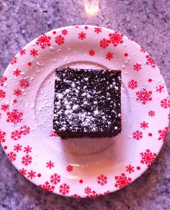 creme fraiche on gingerbread