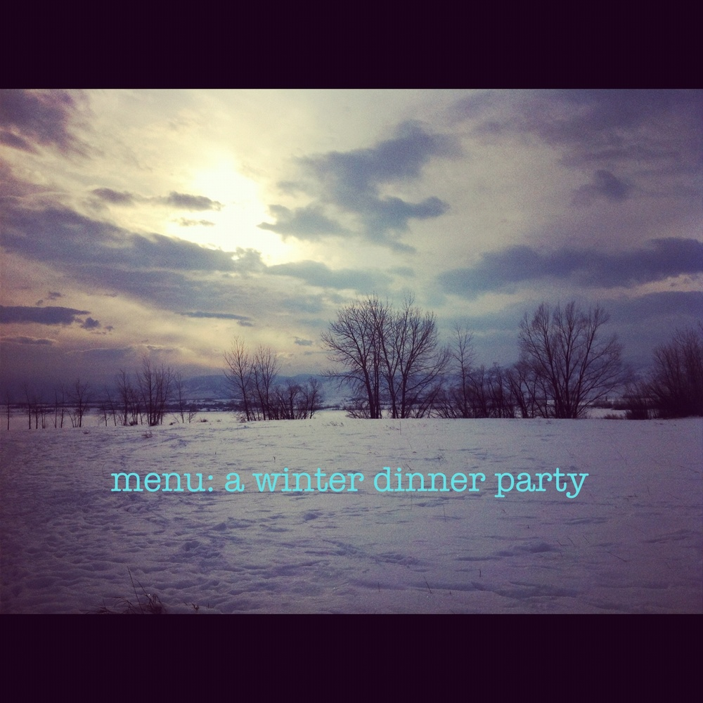menu- a winter dinner party