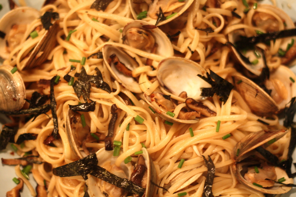 japanese style linguine + clams