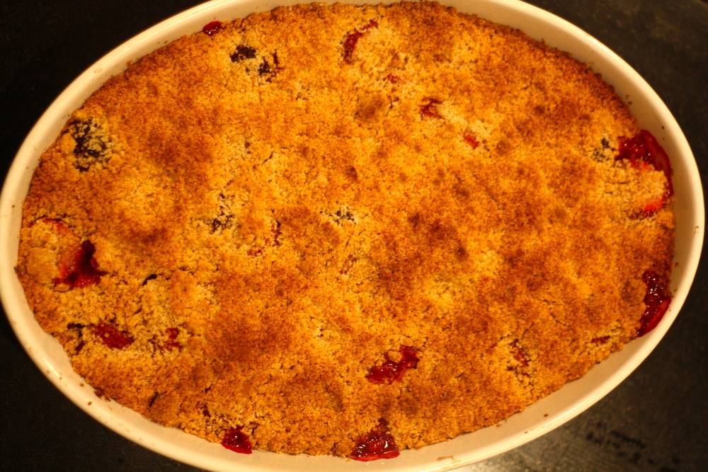 berry thyme crumble cake
