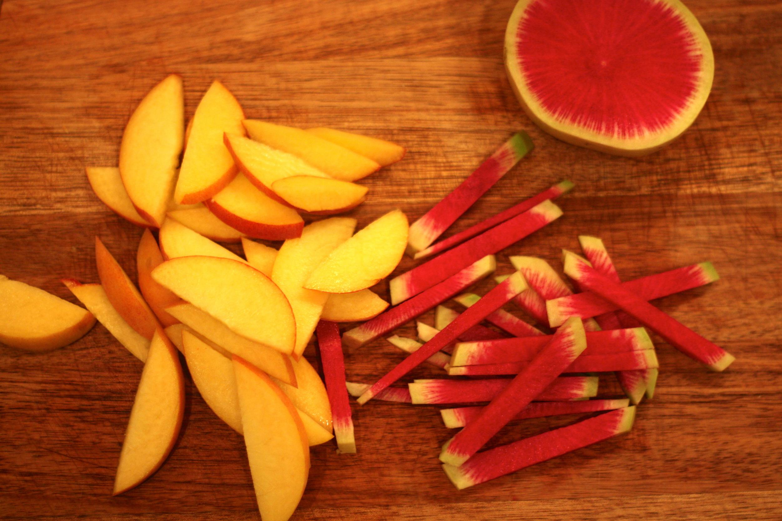 mango and radish salad