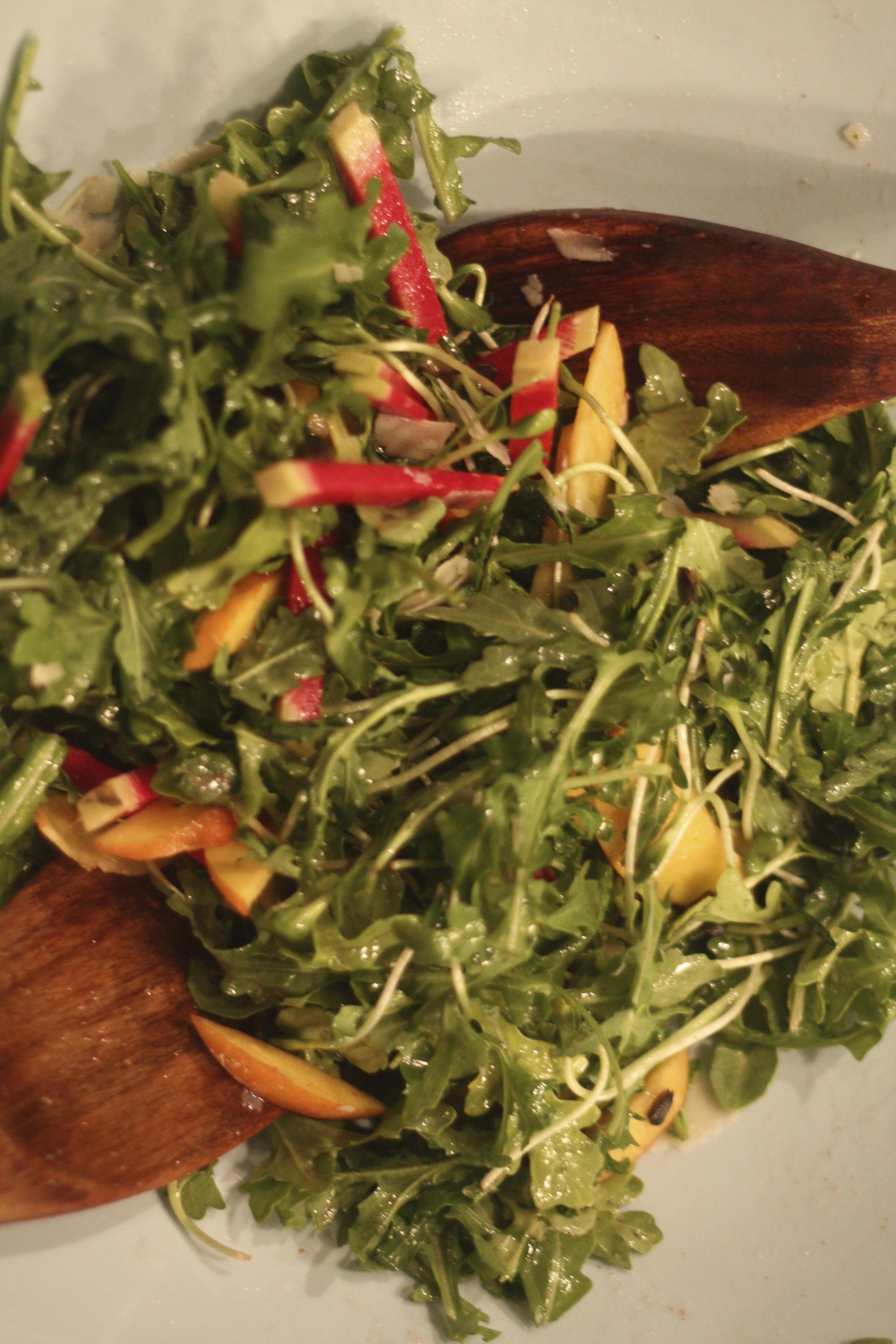 best dressing for arrugula salad