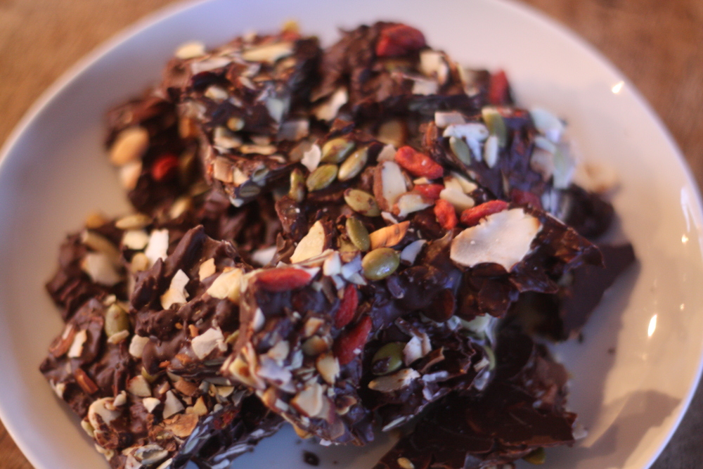 superfood chocolate bark