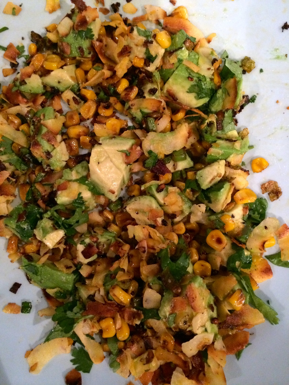 arugula, corn + avocado salad with coconut vinaigrette