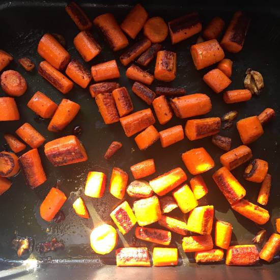 curried roasted carrots
