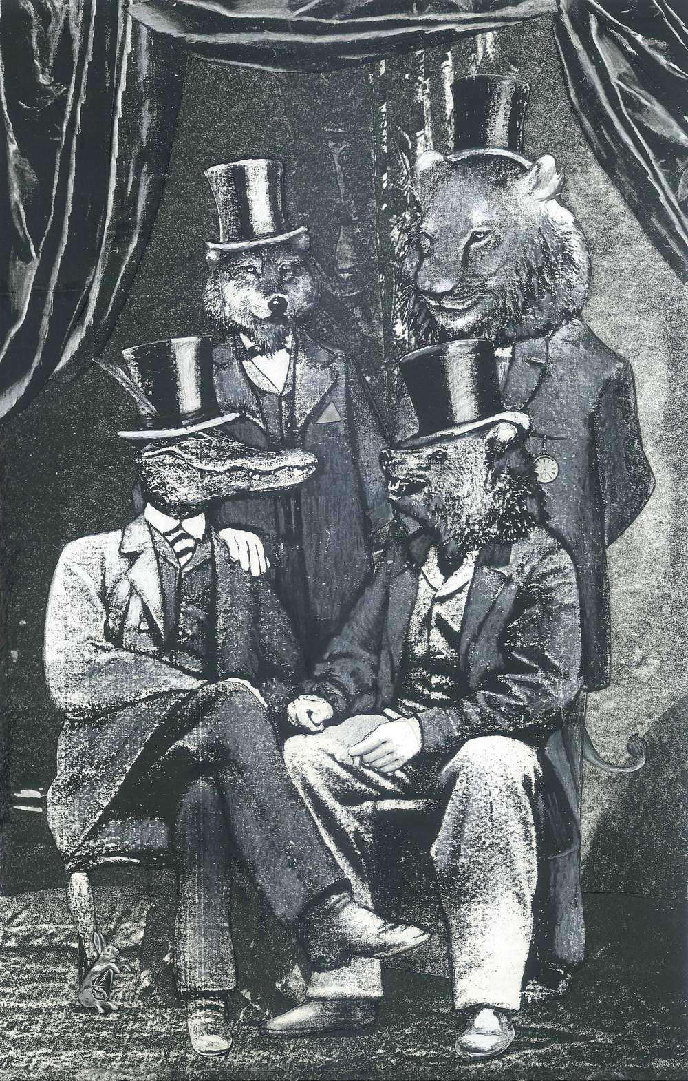 A Rare Portrait of the Society for Unapproachable Beasts in Top Hats