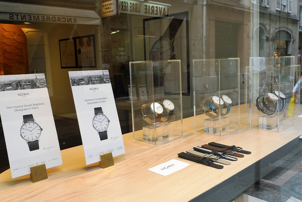 Nowa watch showroom at 10 rue Jean-Jacques Rousseau 75001 Paris. New collection exhibition at Paris Design Week.