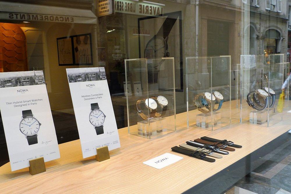 Nowa watch showroom at 10 rue Jean-Jacques Rousseau 75001 Paris. New collection exhibition at Paris Design Week.