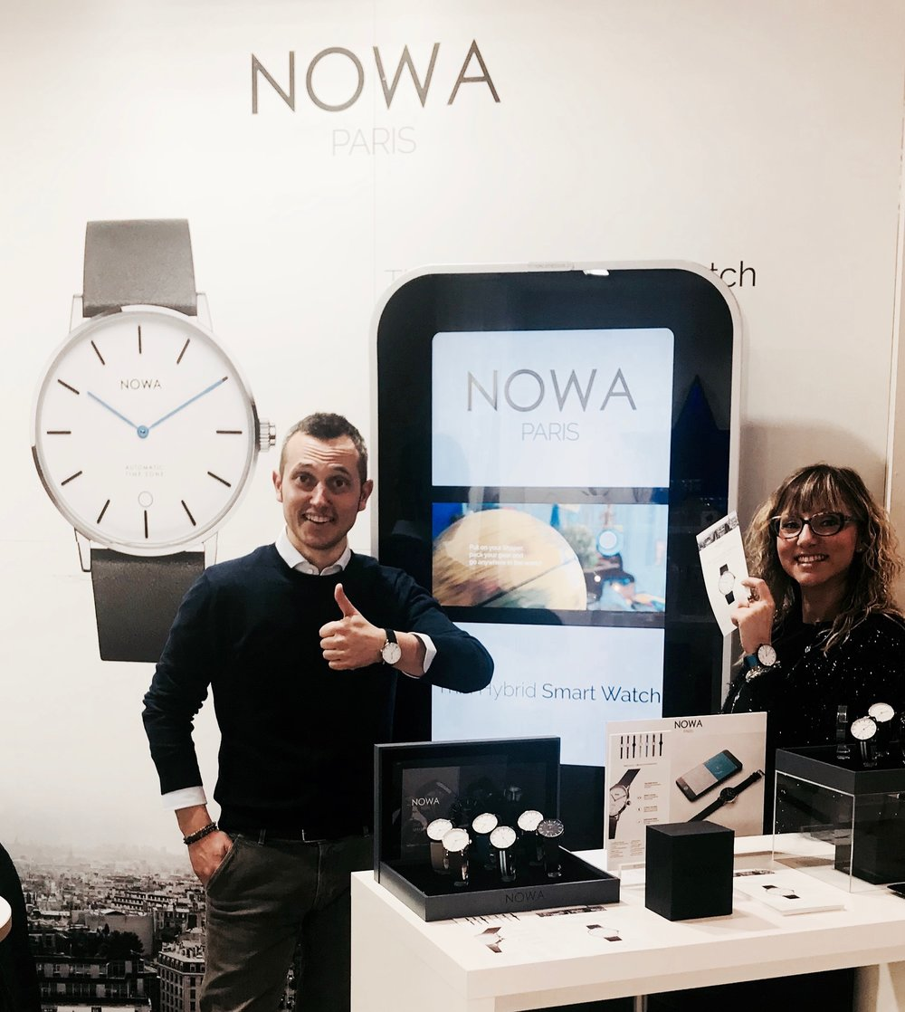NOWA's booth setup at HOMI in Milan, Pad. 1 - Stand L11.