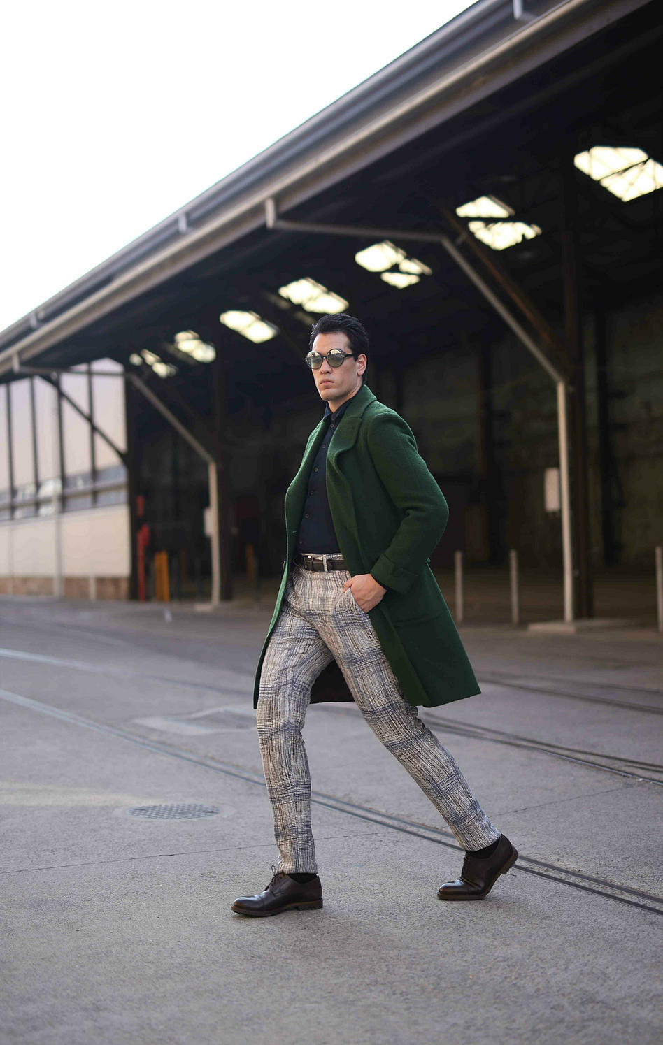 Style | #OotdTHE BOY IN THE GREEN COAT  - I'm just you're average boy running about town in Lardini