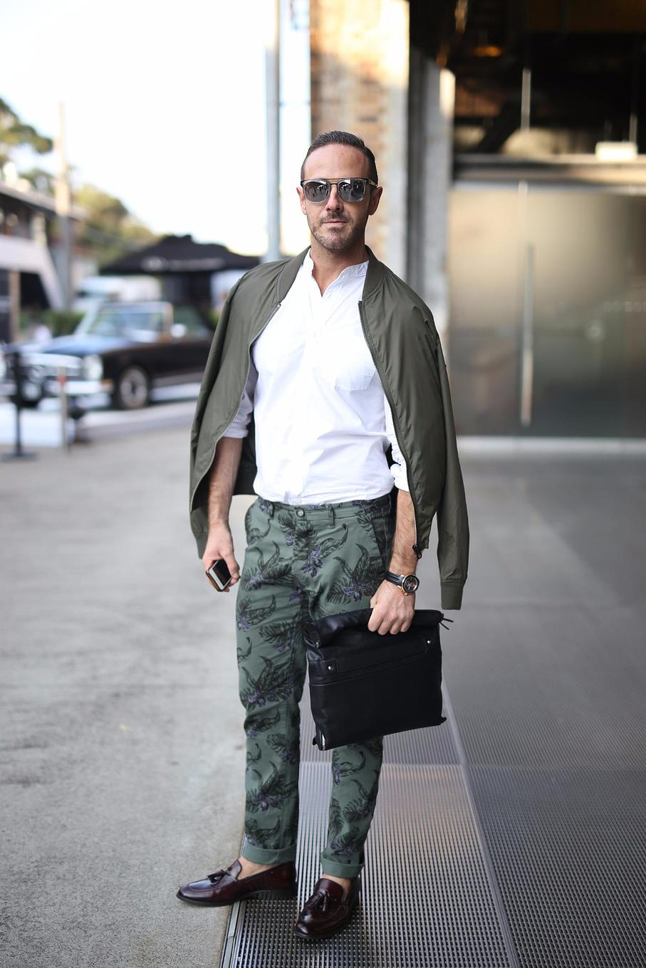 """Doesn't matter how much you spend you can look great at any budget""- Donny Galella TV Presenter and Stylist Donny Galella wears head to toe outfit from next.com accessorised with Armani sunglasses and Zara bag."