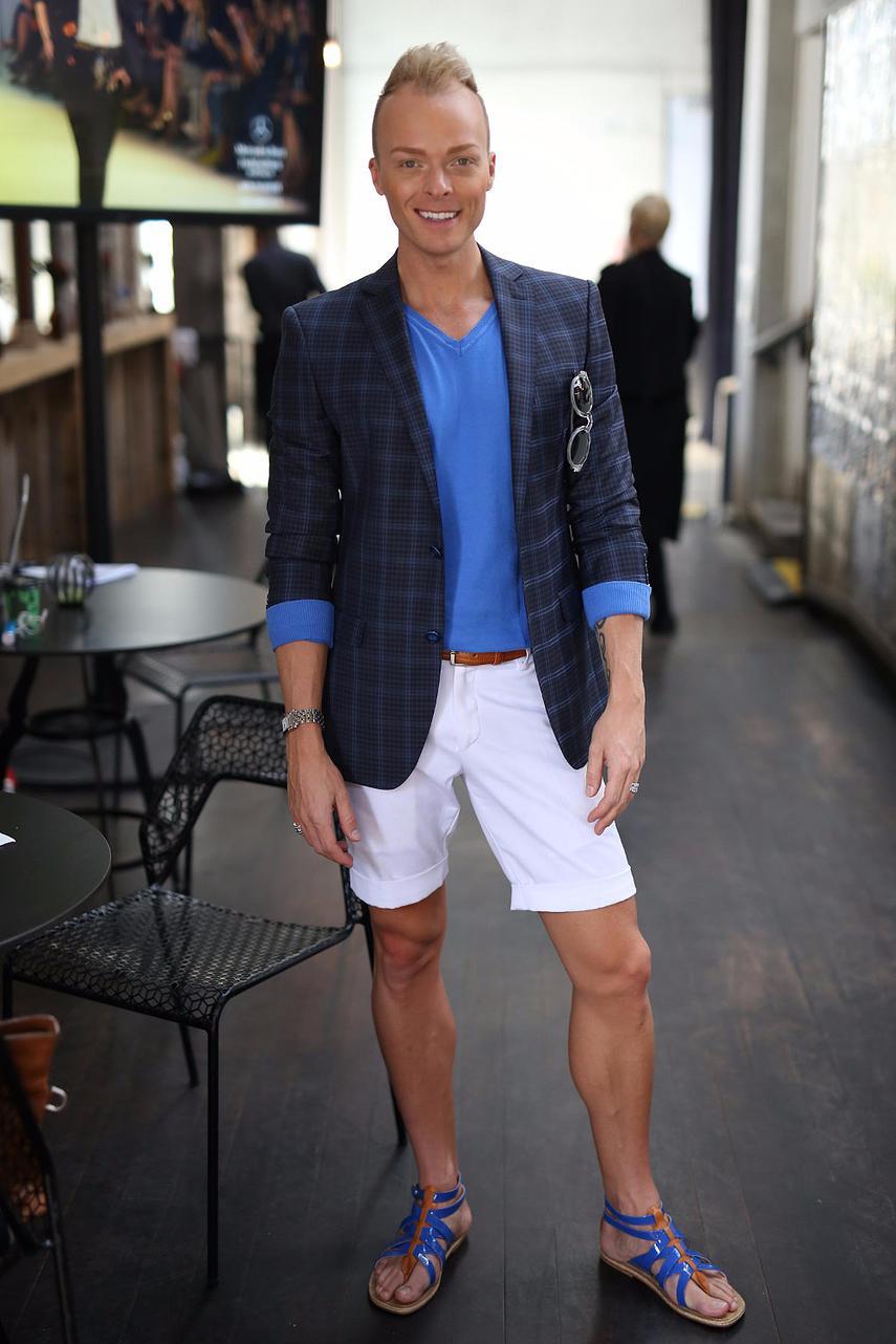 """Be yourself.""  Joshua Heath Stylist     Josh wears Versace, Gregory Jewellers and Christian Louboutin"