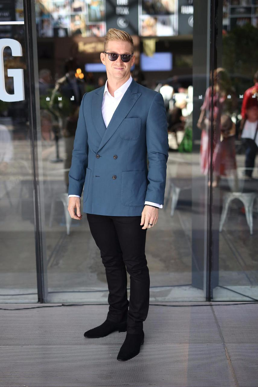 """Keep it simple with a bit of colour"" Wade Fox CEO of Moda Talent Agency Will wears Will Balour."