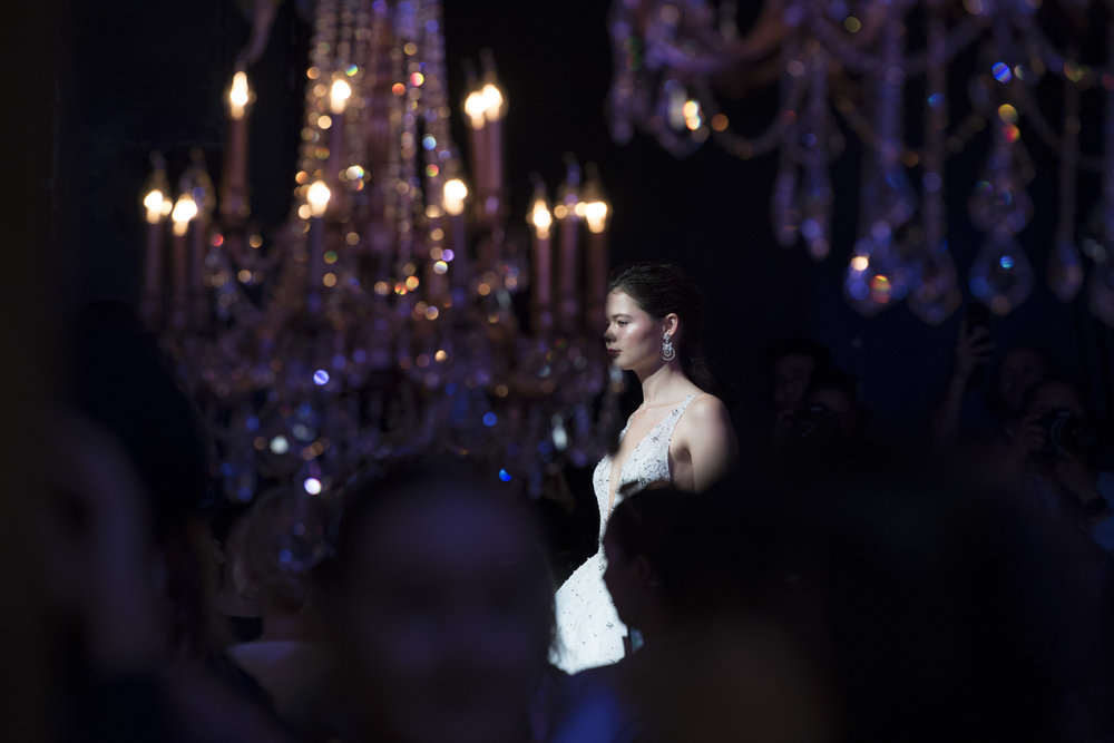 The Style Edit | Fashion WeekSTEVEN KHALIL - In a room covered in floral ornaments, dazzling chandeliers, and draping the Fashion Gliteratti were transported into a living ballroom this fashion week where we were greeted with the most exquisite works of hand beaded art.Photo Credit: Esteban @latessaphotography