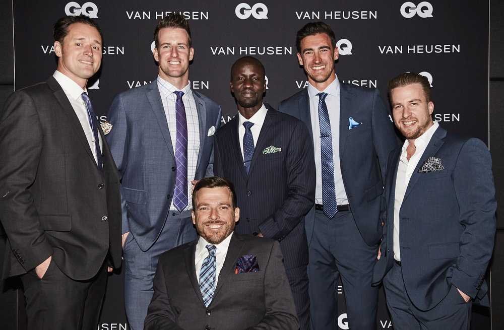 From Left to right; Stuart B Richardson, James Magnussen, Kurt Fearnley, Deng Adut, Mitchell Starc and Jack Delosa
