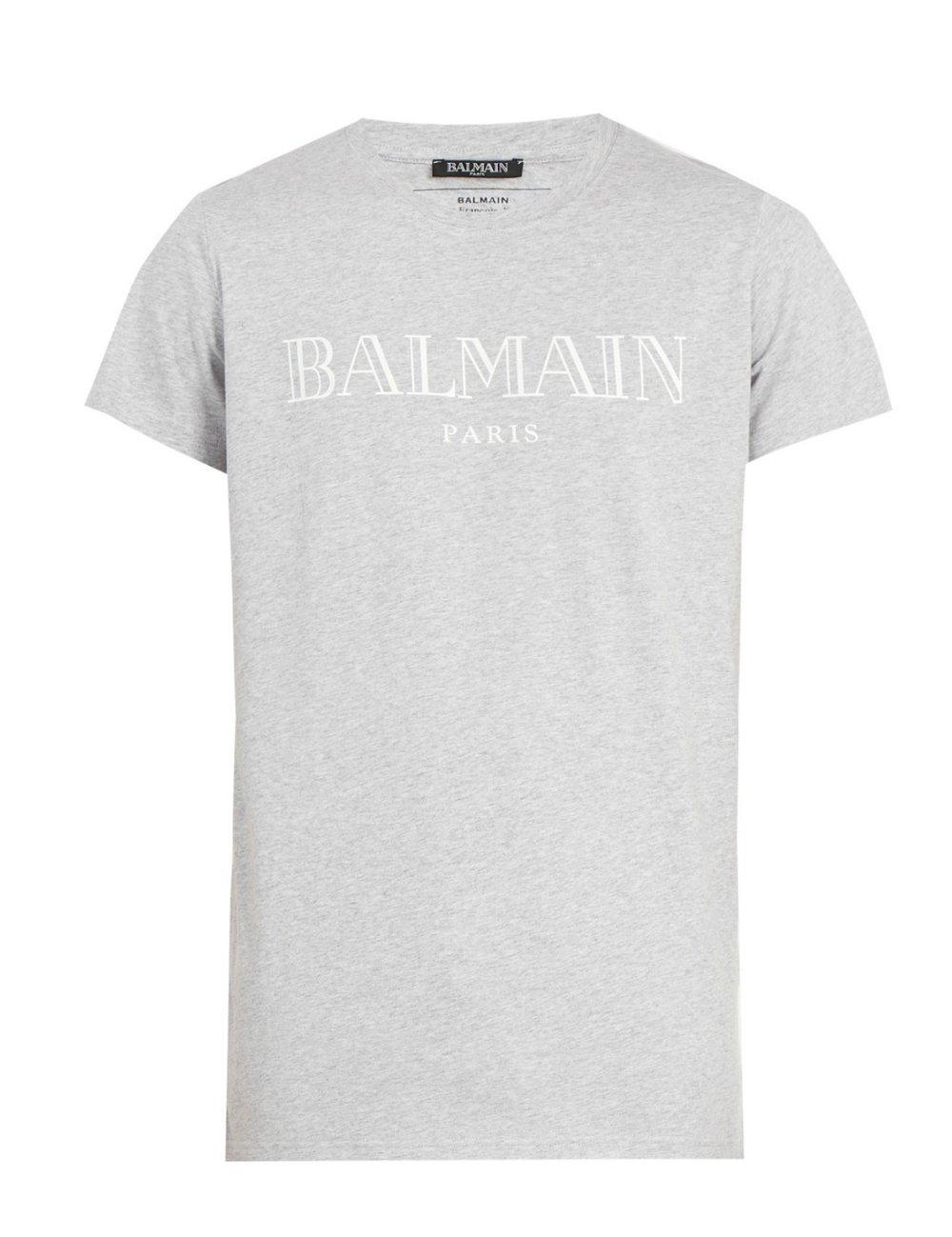 BALMAINLogo-print cotton tshirt - MATCHESFASHION.COM