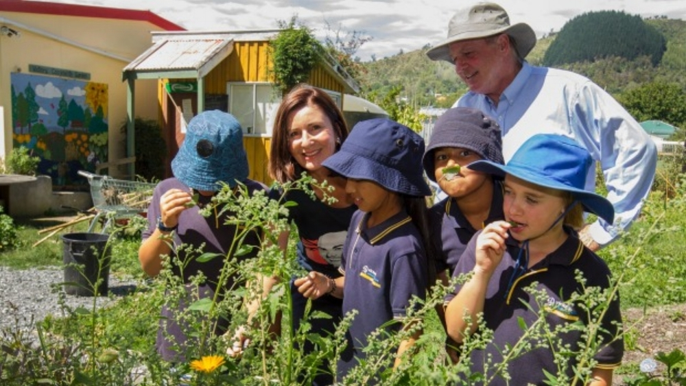 Kids and veg – they just keep growing (Photo courtesy Nelson Mail)