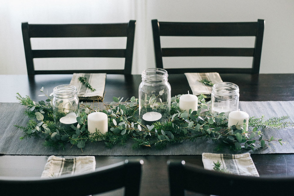 A Simple Holiday Table Setting — Camp Krysta | seeking simplicity in ...
