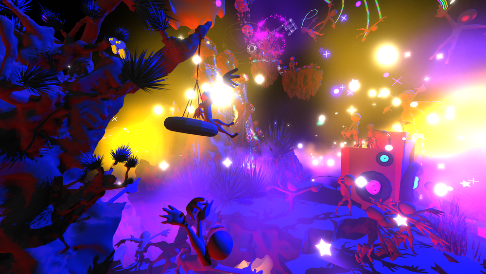 The tree on the left with the tire swing is the same one sculpted above. It was uploaded to Poly so I could use it again and again in Tiltbrush VR.