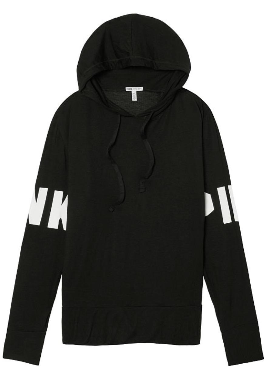 THE ORIGINAL: PINK Victoria's Secret Super Soft Black Hoodie    $59.29NZ