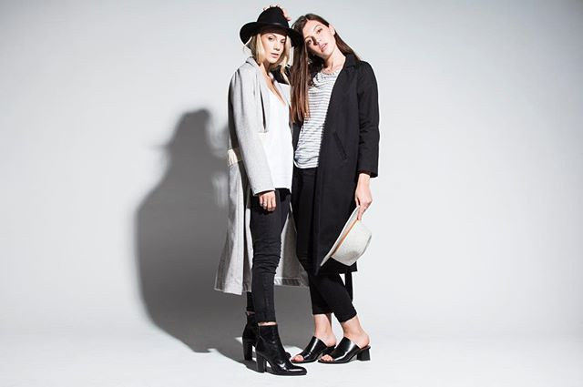 These two beauties in a few pieces from our AW17 launching in march 💕💕 cannot wait!! #loishazel #womenswear #madeinmelbourne #ecomono #blog #fashion #australianfashion #melbournefashion #style
